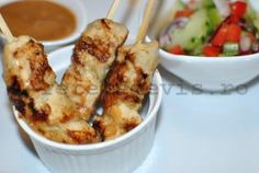 Retete de vis: Satay de pui - varianta thailandeza Asian Recipes, Ethnic Recipes, Potato Salad, Cauliflower, Singapore, Meat, Chicken, Vegetables, Food