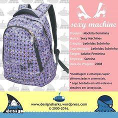 Muito bem acabada e linha super estilosa. #sexymachine #backpack #mochilas #desenvolvimentodeprodutos #design #projectdesign #productdesign #graphicdesign #sharks #leonidasdesigner