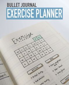 Bullet Journal EXERCISE PLANNER to keep you on track with your fitness goals!