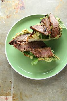 Spicy Steak and Avocado Toast by Heather Christo, via Flickr