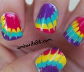 tie dye manicure... the trick is using a NEEDLE.  cool!