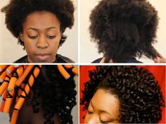 Stretch 4c Hair With Flexi Rods Tutorial - BlackHairInformation.com - Growing Black Hair Long And Healthy