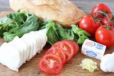 Caprese Garlic Bread | Garlic Bread Recipe | Two Peas & Their Pod