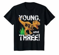 Kids Young Wild and Three 3 Dinosaur T-Rex Birthday Shirt Boys 3rd Birthday Party For Boy, Birthday Themes For Boys, Birthday Boy Shirts, Dinosaur Birthday Party, Birthday Party Themes, Elmo Party, Mickey Party, Party Party, Birthday Ideas