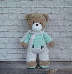 Crochet Animal Patterns, Stuffed Animal Patterns, Amigurumi Patterns, Crochet Animals, Crochet Teddy, Crochet Bear, Crochet Dolls, Knitted Stuffed Animals, Bear Toy