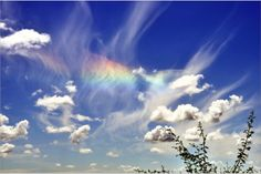 Circumzenithal Arc.  The circumzenith arc is caused by sunlight being refracted by ice-crystal plates floating horizontally in the atmosphere.