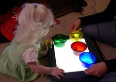 50 ideas for using a light box with a visually impaired child from http://VICurriculum.org.