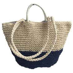New design crocheted paper straw bag