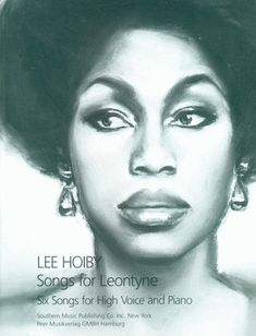 """Leontyne Price pictured on cover for """"Songs for Leontyne: Six Songs for High Voice and Piano."""""""