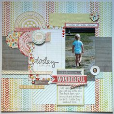"""My Minds Eye- The Sweetest Thing Collection- """"today is the Last Layout"""""""