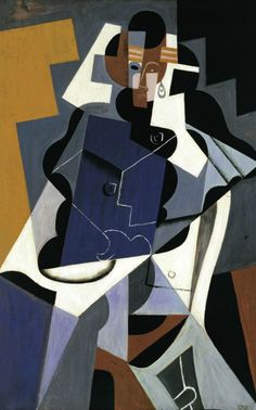 Juan Gris (Spanish, 1887-1927), Seated Woman, 1917. Oil on panel, 116 x 73 cm. Museo Thyssen-Bornemisza, Madrid.