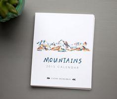 2015 Mountains Calendar por CathyMcMurray en Etsy