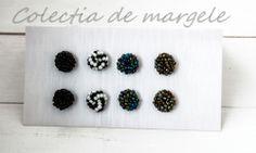 Crochet beading earrings  www.colectiademargele.ro Beading, Stud Earrings, Crochet, Collection, Jewelry, Beads, Jewlery, Jewerly, Stud Earring