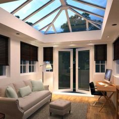 Our range of UPVC Roof Lanterns are ideal for the trade DIYer and Property Developers. Featuring multiple brands of UPVC Roof Lights, there will be an item to suit your need here. As a UPVC Roof Lantern Installer we only offer the highest quality of servi Garden Room Extensions, House Extensions, Orangerie Extension, Conservatory Extension, Roof Design, House Design, House Extension Design, Extension Ideas, Glass Roof Extension