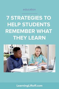 Students may learn a lot in school, but if they don't retain what they've learned, their education is not complete. Try these tactics to help students remember what they learn in class. Order Of Operations, Simple Sentences, Student Success, School S, Play To Learn, Parenting Quotes, Fun Learning, Homeschool, Students