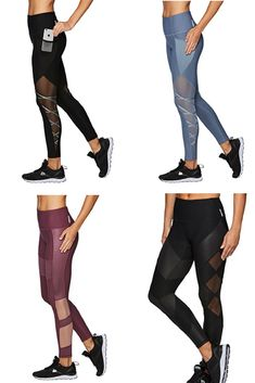 Give me all these leggings! Click this pin to find them on Amazon! RBX Active Women's Workout Legging with Mesh Activewear | running pants | yoga pants | leggings | fitness fashion | fitness clothes | workout clothes | tights | #affiliate #meshleggings