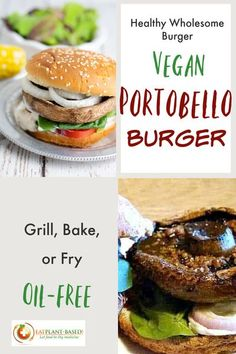 Mushroom lovers enjoy the Portobello in stir-fries, casseroles, soups, and salads. Another hearty preparation style is to give them solo status on a whole grain bun as a meatless burger with the traditional condiments like lettuce, pickles, and tomatoes. #portobelloburger #veganburger #plantbasedburger #vegangrillingrecipe Vegan Meal Prep, Vegan Dinner Recipes, Vegan Dinners, Vegetarian Recipes, Vegan Desserts, Vegan Food, Healthy Recipes, Vegan Mushroom Burger, Portobello Mushroom Burger
