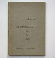 Max Bill, Jean Arp: konkrete kunst. Kunsthalle Basel, 1944. Designer: Max Bill
