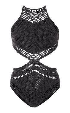 6ad79072b658 Suboo Crocheted Halter One-Piece Swimsuit Crochê De Verão, Flores De Crochê,  Vestidos