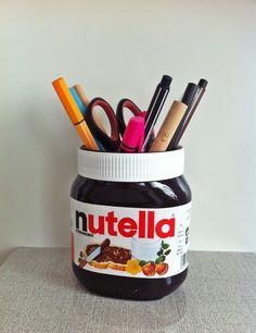 Origineller Stifthalter für alle Nutella Fans ~ Original pen holder for all Nutella fans