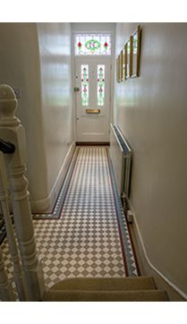ROCCIA supply this product. www.roccia.com Brown Victorian tile. Modern hallway furniture victorian terrace london - Google Search