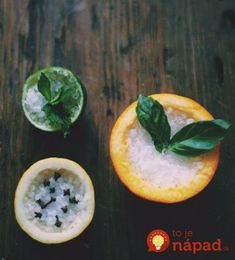 DIY home fragrance - fruit-rind air fresheners Home Scents, House Smells, Natural Cleaning Products, Smell Good, Natural Living, Perfume, Make It Yourself, How To Make, Table Salt