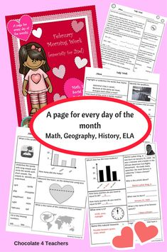 A page for every day of the month! Practice ELA, Math, History, and Geography skills daily with fun, nonfiction facts about the month of February!