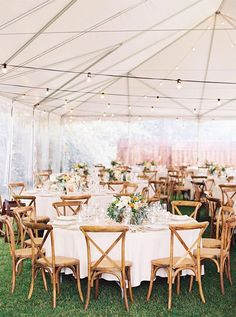 Wedding Reception under tent + pretty details to fall in love