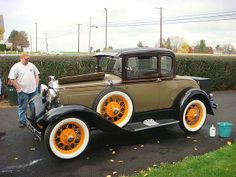 '31 Ford Model A - similar body colors as ours except the orange wire wheels -