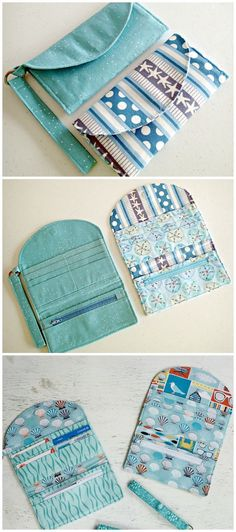 Learn how to sew wallets. 3 p