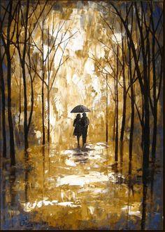 Мастихином картина маслом Пара в дождь по ArtSunday - автор - ? | искусство