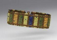 75d659b93 Peyote Perfect, by NanC Meinhardt by Shopway2much Beaded Cuff Bracelet, Beaded  Bracelet Patterns,
