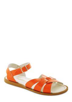 Salt Water Sandals in Orange