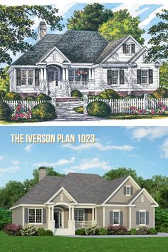 The Iverson Plan 1023 has a new rendering! #WeDesignDreams #DonGardnerArchitects