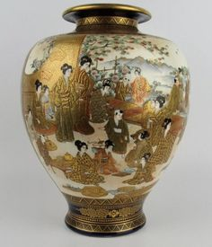 Japanese China, Japanese Vase, Satsuma Vase, Antique Lamps, Liquor Bottles, Vases Decor, Pottery Art, Tea Pots, Decorative Vases