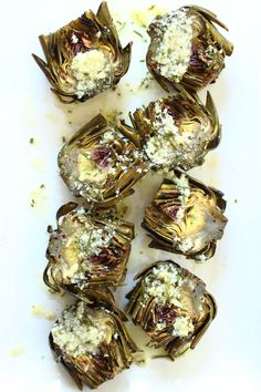 An easy appetizer for warm sunny days / Grilled Artichokes with Garlic Parmesan