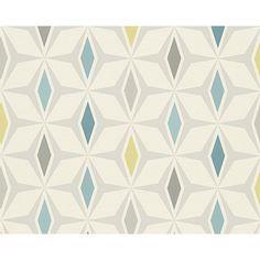 AS Creation Geometric Diamond Pattern Wallpaper Retro 60s Motif 304761