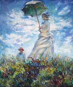 Woman with Unbrella Monet