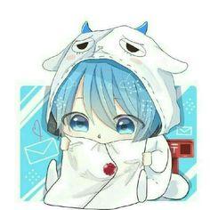 コロンくん Chibi Boy, Cute Anime Chibi, Anime Blue Hair, Dragon Artwork, Heart Melting, Manga Pictures, Cute Drawings, Neko, Little Boys