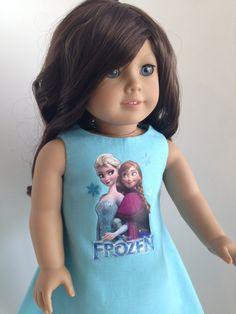Frozen Inspired Cotton Dress for the American Girl Doll by TheWhimsicalDoll2