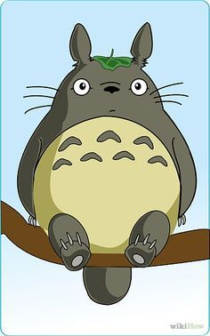 """Draw Totoro Intro.jpg Replace bunny in the """"bunny in lower corner"""" quilt"""