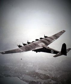 """The Messerschmitt Me 323 Gigant (""Giant"") was a German military transport aircraft of World War II. and was the largest land-based transport aircraft of the war. A total of 213 are..."