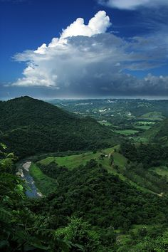 """A View of My Country"" by Carlos Gotay....Welcome to Puerto Rico hills and beautiful mountains!"