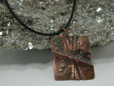 Metalsmith Fold Formed Copper Pendant by SilverSeahorseDesign, $30.00