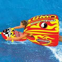 Sportsstuff Sumo Towable Tube & Sumo Splash Guard Combo - The Sportsstuff Sumo Towable Tube & Sumo Splash Guard Combo is the ideal water sports gear for beginners or for people who are looking for a more relaxed. Caleb, Inflatable Float, Star Wars, Surfer Girl Style, Boat Accessories, Sports Toys, Water Toys, Outdoor Gear, Outdoor Games
