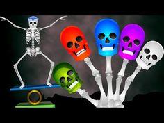 Skeleton Performing Circus Finger Family Rhyme | Kids Nursery Rhymes | Funny Colors Skeleton Rhymes - YouTube