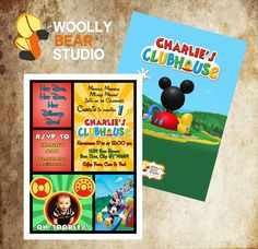 DIY Printable Mickey Mouse Clubhouse Photo Invitation