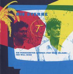 """Die Sterne, Single Cover, 1988, Fast Weltweit  """"Ein verregneter Sommer (Tief über Irland)"""", """"Ich will Dich""""  Mirko Breder,Frank Spilker  Design© Susanne Beimfohr, 1988"""