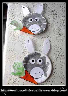 L'âne de Saint Nicolas et sa carotte - K Crafts, Paper Plate Crafts, Preschool Activities, Crafts For Kids, Farm Animal Crafts, Farm Animals, Saint Nicholas, Arts And Crafts Supplies, Blog