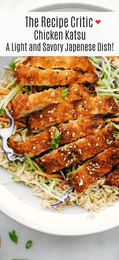 Awesome Chicken Katsu is a crispy breaded chicken breast seasoned and dipped in Panko then lightly fried in oil until the crust becomes a golden brown. A light and savory Japanese dish!